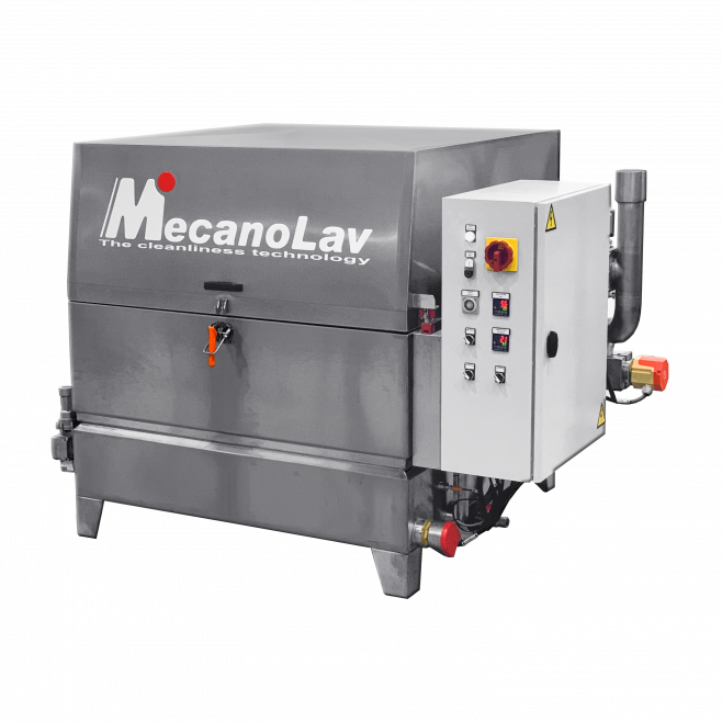 Machine de nettoyage pièces monobain à plateau rotatif