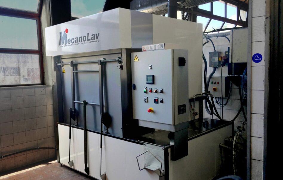 Machine de nettoyage pièces à plateau rotatif monobain
