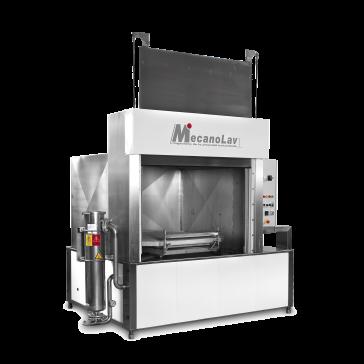 Machine de nettoyage pièces en aspersion à chargement frontal