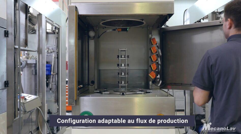 Machine de nettoyage en ilot robotisé ou chargement manuel par opérateur