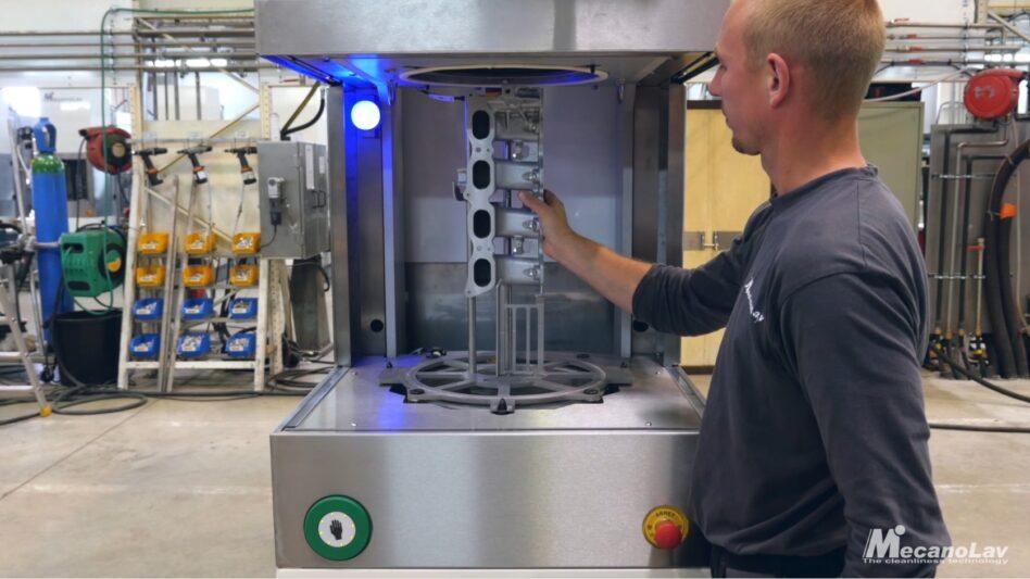 Machine de nettoyage one-piece flow chargement manuel