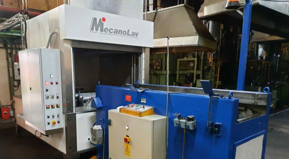 Chargement en machine pour nettoyage de pièces volumineuses