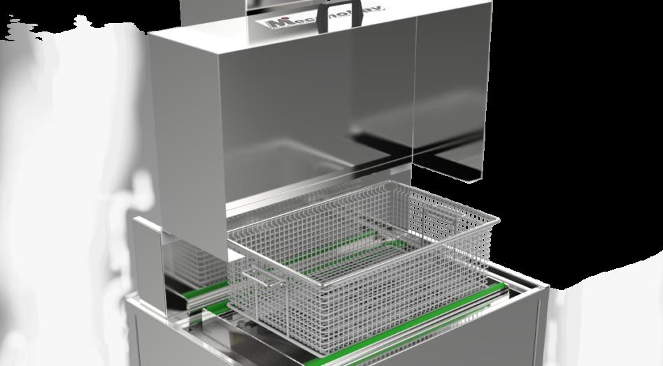 Machine de nettoyage par immersion agitation - couvercle rehaussé