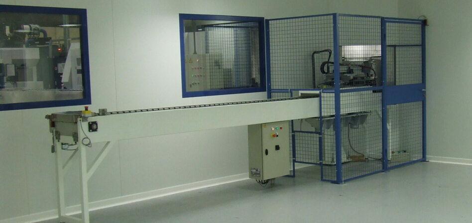 Machine de nettoyage particulaire en salle blanche