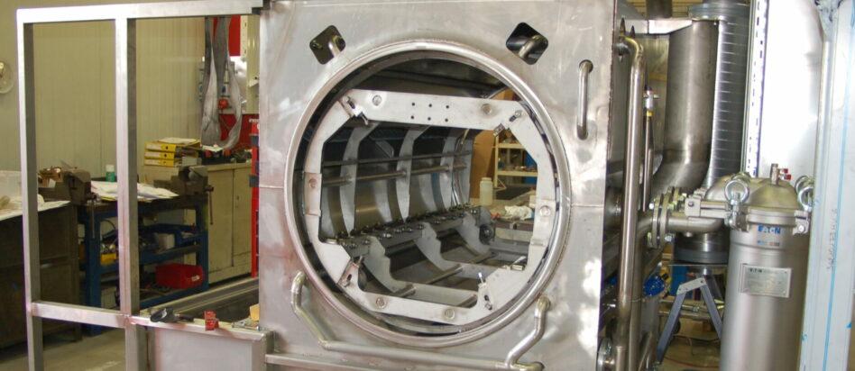 Nettoyage de moyennes et grandes charges en machine avec flux traversant