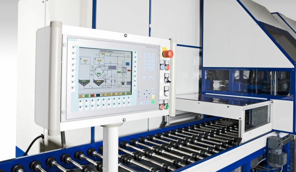 Machine de dégraissage solvants affichage