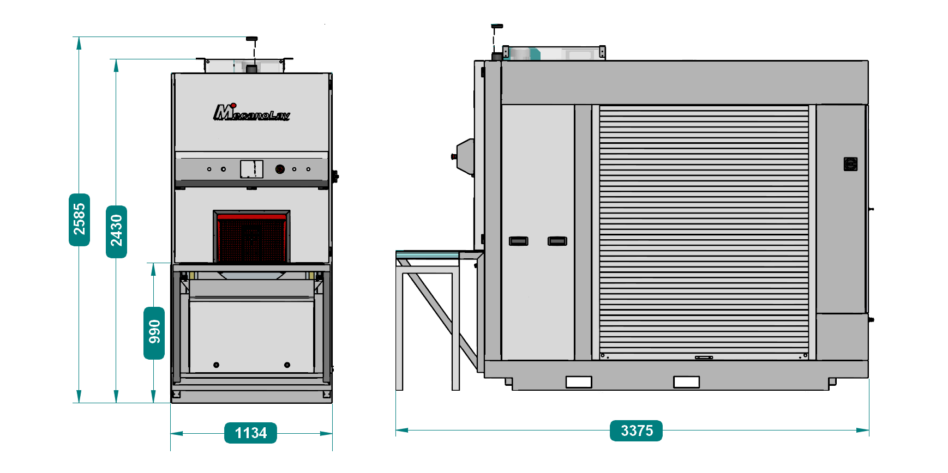 Implantation d'une machine de nettoyage pour moyennes et grandes charges