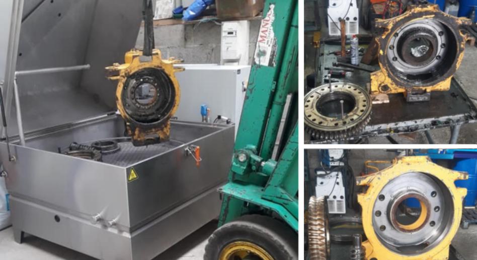 Dégraissage de grandes pièces en machine ECO