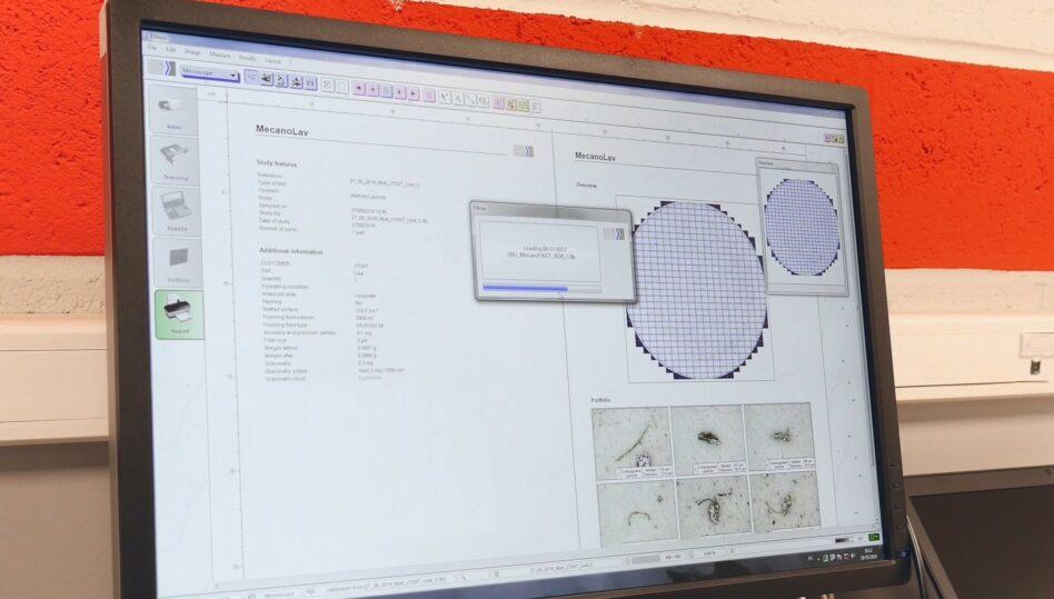 Machine de nettoyage pièce comptage particule