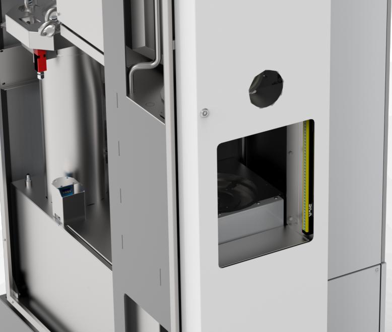 Machine de nettoyage/dégraissage en flux unitaire ultra compacte côté